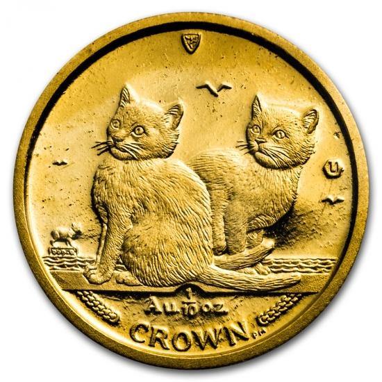 2003 マン島キャット金貨 1/10オンス バリニーズキャット クリアーケース付き