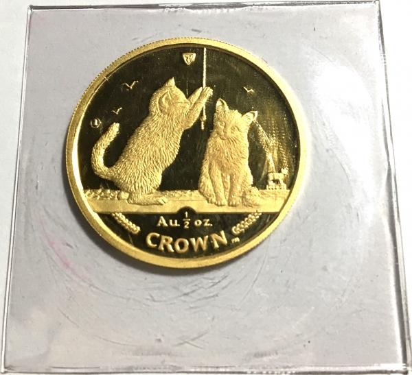 2001 マン島キャット金貨 1/2オンス ソマリア キャット クリアーケース付き
