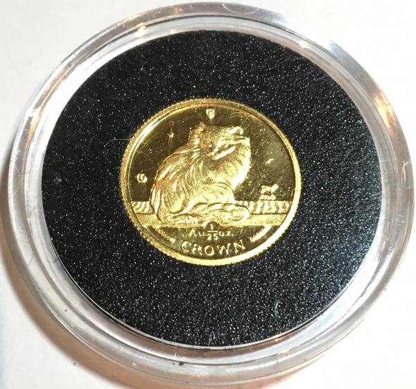1995 マン島キャット金貨 「プルーフ」 1/25オンス ターキッシュキャット クリアーケース付き