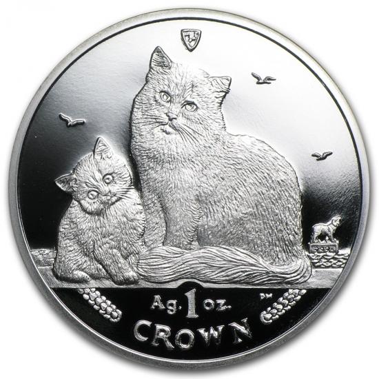 新品未使用 2013 マン島 1オンス 1クラウン銀貨プルーフ シベリア猫