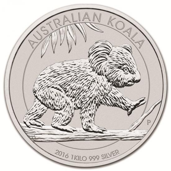 新品未使用 2016 オーストラリア  コアラ銀貨【 1キロ】 クリアーケース付き