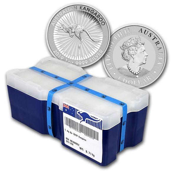 2019 オーストラリア カンガルー銀貨 1オンス 500枚【2箱×250枚】 モンスターBOX付き 新品未使用