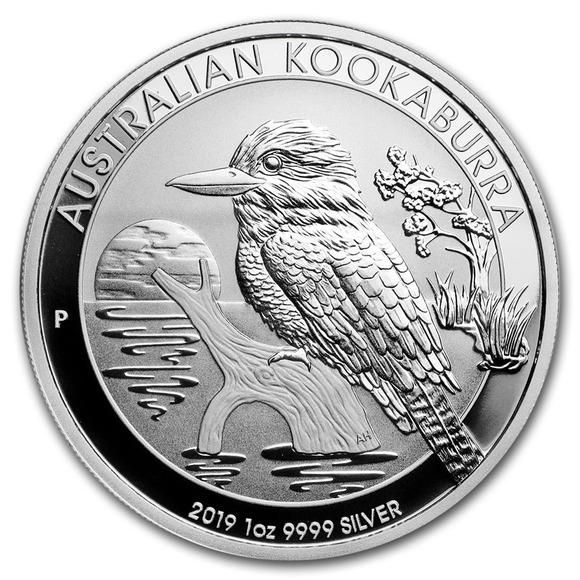 2019 オーストラリア クッカバラ(カワセミ) 銀貨 1オンス 5枚セット 41mmクリアーケース付き 新品未使用