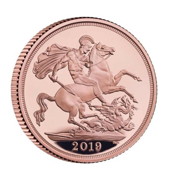 2019 イギリス ソブリン金貨 プルーフ 箱とクリアケース付き 新品未使用