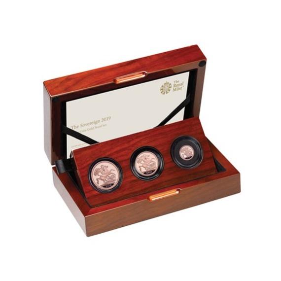 2019 イギリス ソブリン金貨 3枚セット プルーフ 箱とクリアケース付き 新品未使用
