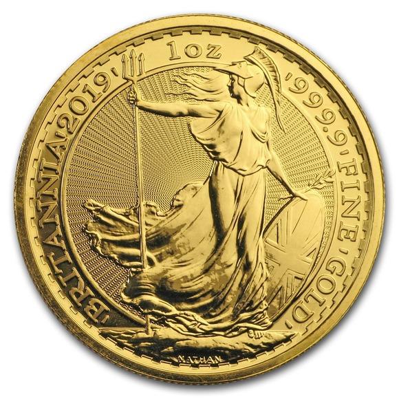 2019 イギリス ブリタニア 金貨 1オンス 5枚セット クリアケース付き 新品未使用