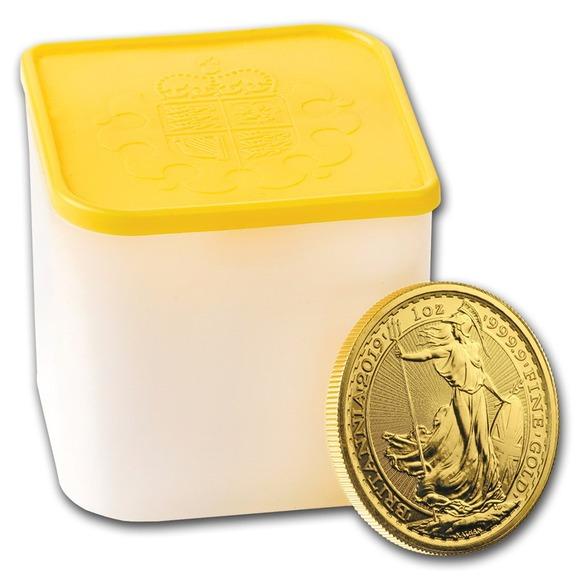 2019 イギリス ブリタニア 金貨 1オンス 10枚セット ミントロール付き 新品未使用