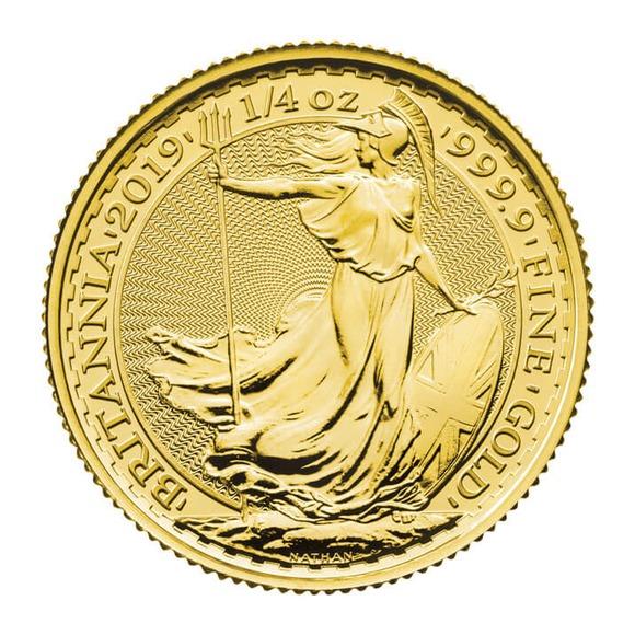 2019 イギリス ブリタニア 金貨 1/4オンス クリアケース付き 新品未使用
