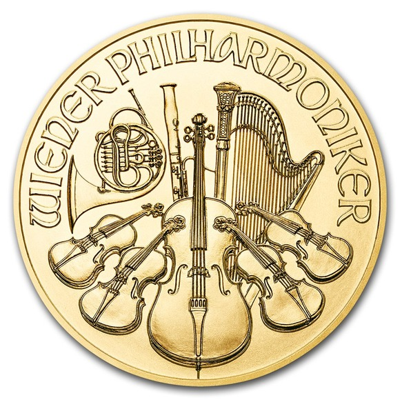 2019 オーストリア ウィーン金貨 1/2オンス(28mmクリアーケース付き) 新品未使用