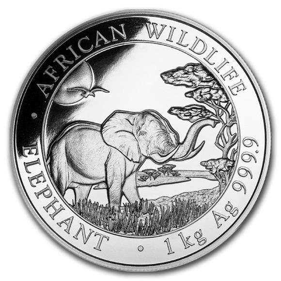 2019 ソマリア エレファント 銀貨 1キロ クリアケース付き 新品未使用