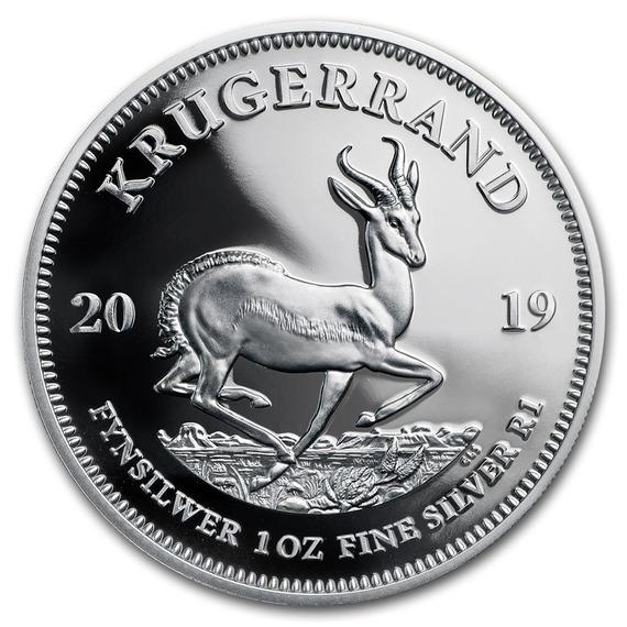 2019 南アフリカ クルーガーランド銀貨 1オンス プルーフ 箱とクリアケース付き 新品未使用