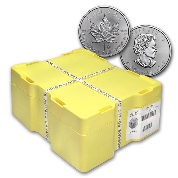 2019 カナダ メイプルリーフ銀貨 1オンス 500枚セット モンスターBOX付き 新品未使用