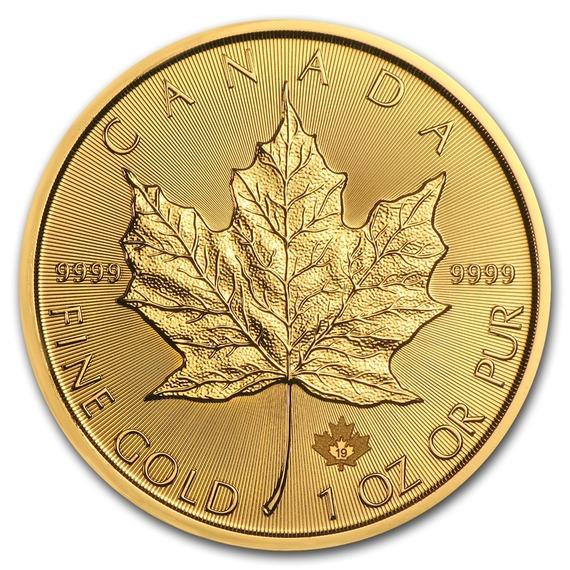2019 カナダ メイプルリーフ金貨 1オンス (30mmクリアケース付き) 新品未使用