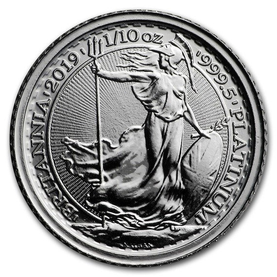2019 イギリス ブリタニア(プラチナ) 1/10オンス (17mmクリアケース付き) 新品未使用