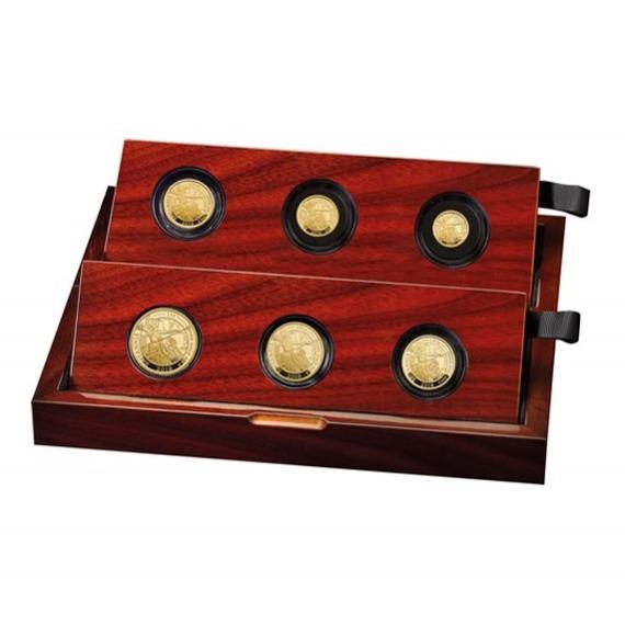 2019 イギリス ブリタニア 金貨 プレミアム6枚セット プルーフ 箱とクリアケース付き 新品未使用