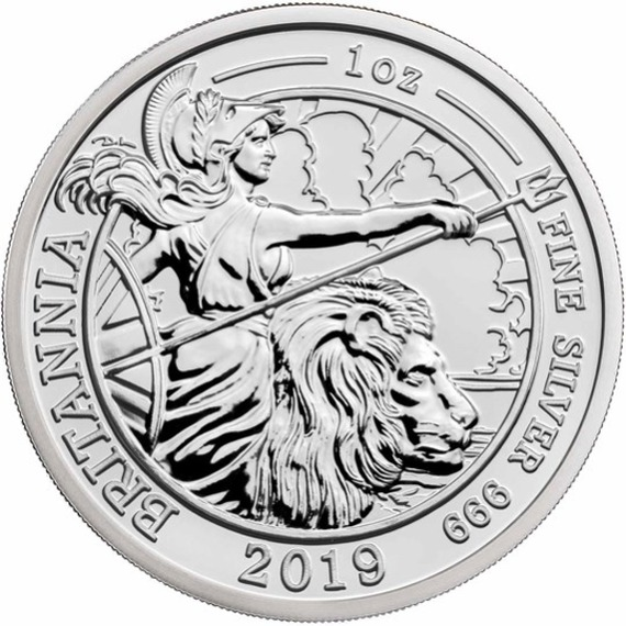 2019 イギリス ブリタニア 銀貨 1オンス 箱とクリアケース付き 新品未使用