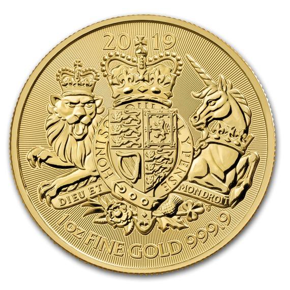 2019 イギリス 王室紋章 金貨 1オンス クリアケース付き 新品未使用