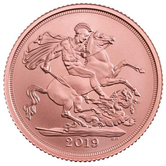 2019 イギリス ソブリン金貨 マット仕上げ 箱とクリアケース付き 新品未使用