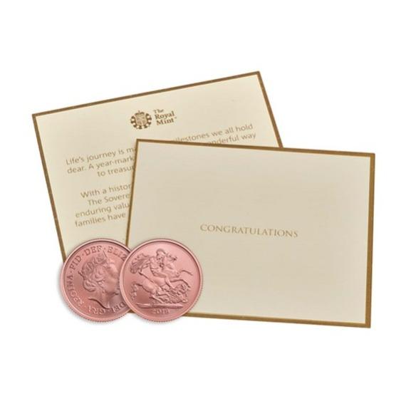 2019 イギリス ソブリン金貨 マット仕上げ 祝辞カードと箱とクリアケース付き 新品未使用