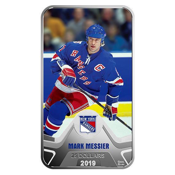 2019 カナダ NHLオリジナル・シックス:ニューヨーク・レンジャース:マーク・メシエ 銀貨 プルーフ 箱付き 新品未使用