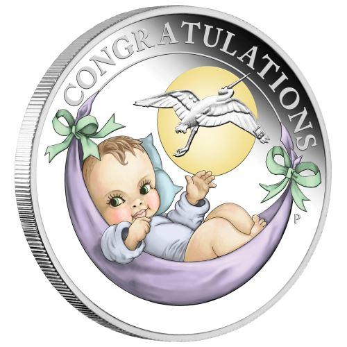 2019 オーストラリア 新生児 銀貨 1/2オンス プルーフ 箱とクリアケース付き 新品未使用