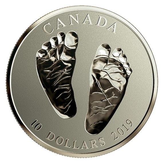 2019 カナダ 新生児への贈り物 銀貨 1/2オンス 反転プルーフ 箱とクリアケース付き 新品未使用