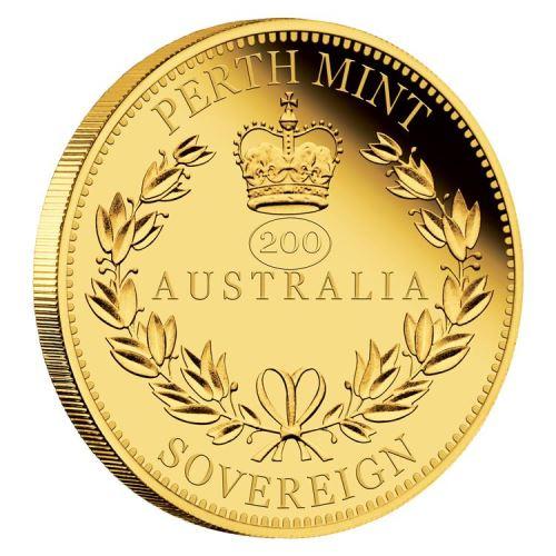 2019 オーストラリア ビクトリア女王生誕200周年記念ソブリン 金貨 1/4オンス プルーフ 箱とクリアケース付き 新品未使用