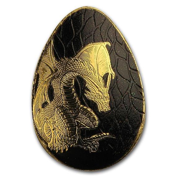 2019 パラオ ドラゴンの金卵 金貨 0.5グラム プルーフ 箱とクリアケース付き 新品未使用