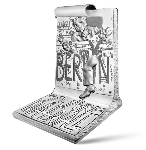 2019 フランス ベルリンの壁崩落30周年記念 銀貨 プルーフ  新品未使用