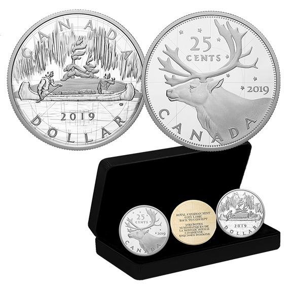 2019 カナダ 王立カナダ造幣局の伝統:原点回帰 銀貨セット 2オンス プルーフ 箱とクリアケース付き 新品未使用