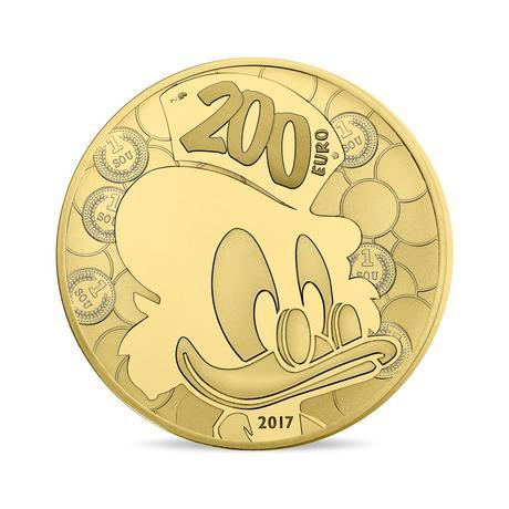 新品未使用 2017 フランス  ディズ二ー DUCKTALES  1オンス金貨 プルーフ