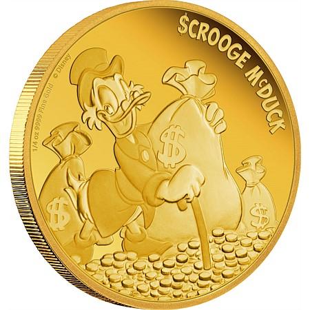新品未使用 2015 オーストラリア ドナルド 「財宝と一緒」 金貨1/4オンス プルーフ 箱付き