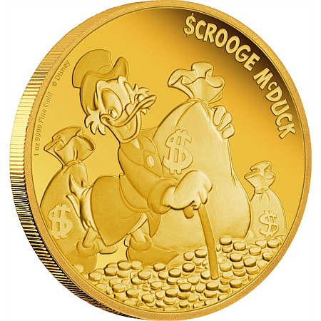 新品未使用 2015 オーストラリア  ディズ二ー 「財宝と一緒」  1オンス金貨 プルーフ