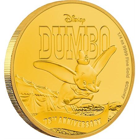 新品未使用 2016 オーストラリア  ディズ二ー ダンボ 75周年記念 1/4オンス金貨 プルーフ