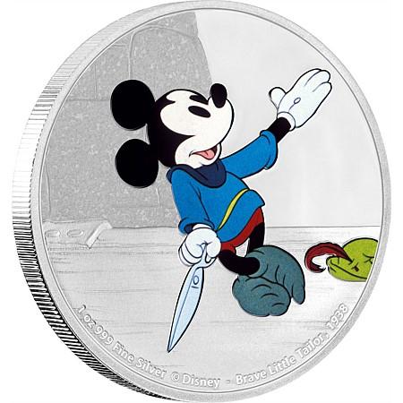 新品未使用 2016 オーストラリア  ディズ二ー ミッキーの巨人退治  1オンス銀貨 プルーフ