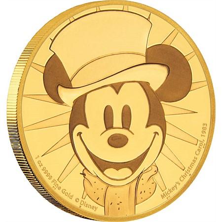 新品未使用 2017 オーストラリア ディズ二ー ミッキー クリスマスキャロル 1オンス金貨