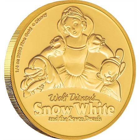 新品未使用 2017 ニュージーランド 白雪姫金貨 1/4オンス プルーフ クリアーケース付き