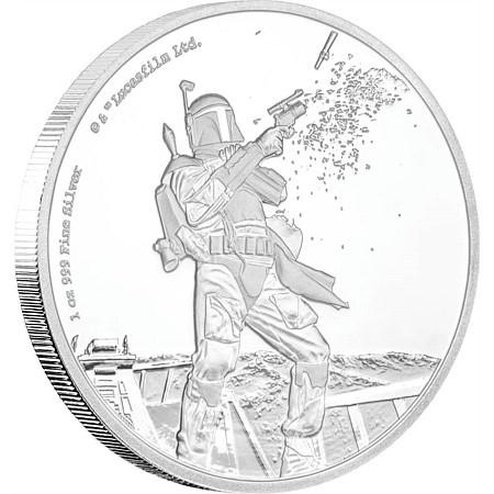 新品未使用 2017 オーストラリア 1オンス銀貨 スターウォーズ (Boba Fett) (箱と説明書付)