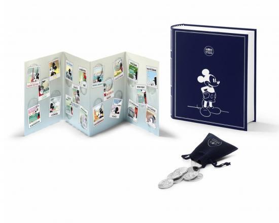 新品未使用 2018 フランス ディズニー ミッキー 銀貨 10枚セット コインBOX