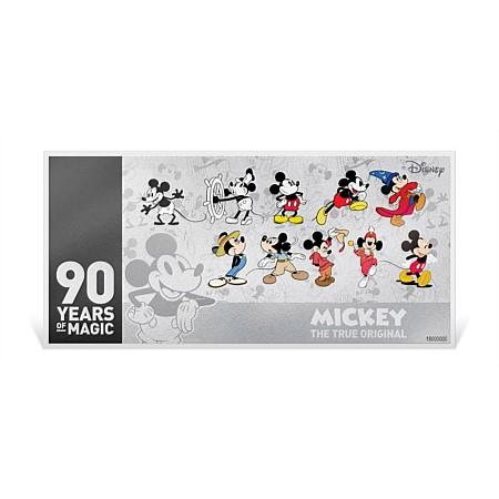 2018 ニウエ ミッキーマウス90周年記念 紙幣型銀貨 5g 箱付き 新品未使用