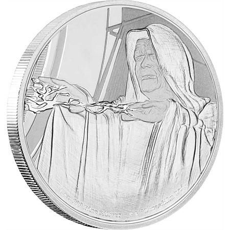 2018 ニウエ スターウォーズ・クラシック:皇帝パルパティーン 銀貨 1オンス  プルーフ 箱とクリアケース付き 新品未使用