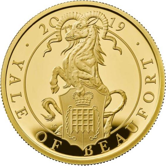 2019 イギリス クィーンズビースト:ボーフォートのエアレー 金貨 1オンス プルーフ 箱とクリアケース付き 新品未使用