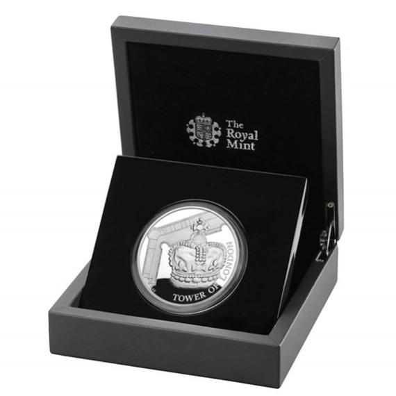 2019 イギリス 王室祭具 銀貨 1オンス プルーフ 箱とクリアケース付き 新品未使用