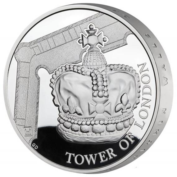 2019 イギリス 王室祭具 5ポンド銀貨 ピエフォー(厚手型) プルーフ 箱とクリアケース付き 新品未使用