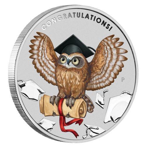 2019 オーストラリア 卒業祝い 銀貨 1オンス コインホルダー付き 新品未使用