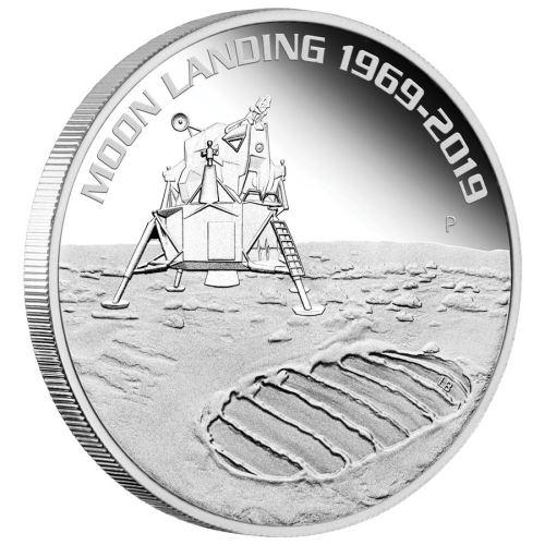 2019 オーストラリア 月面着陸50周年記念 銀貨 1オンス プルーフ 箱とクリアケース付き 新品未使用