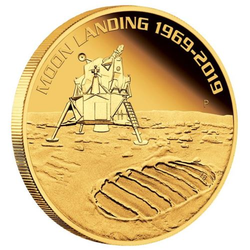2019 オーストラリア 月面着陸50周年記念 金貨 1オンス プルーフ 箱とクリアケース付き 新品未使用