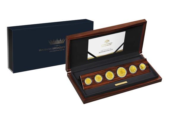 2019 オーストラリア 最後のイアン・ランク=ブロードリー作肖像 金貨6枚セット プルーフ 箱とクリアケース付き 新品未使用