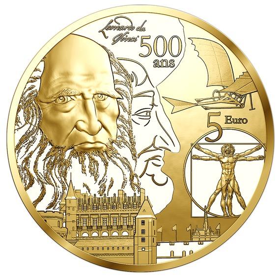 2019 フランス ルネッサンス時代のヨーロッパ 金貨 0.5g プルーフ 新品未使用
