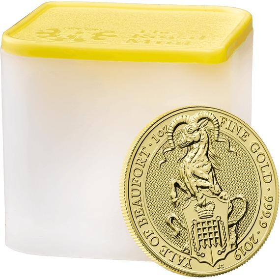 2019 イギリス クィーンズビースト:ボーフォートのエアレー 金貨 1オンス 10枚セット コインチューブ付き 新品未使用